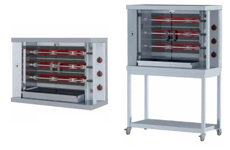 Empresa de maquinas de asar pollos Eurast profesional